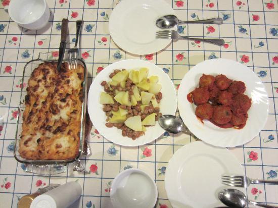 Agriturismo Il Poggio alle Ville: クッキングスクールで作った食事