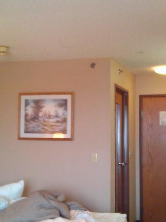 Econo Lodge: Just the room showing othe hole in ceiling.