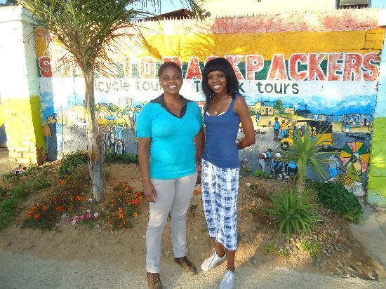 Lebo's Soweto Backpackers: two of the lovely staff at Lebo's