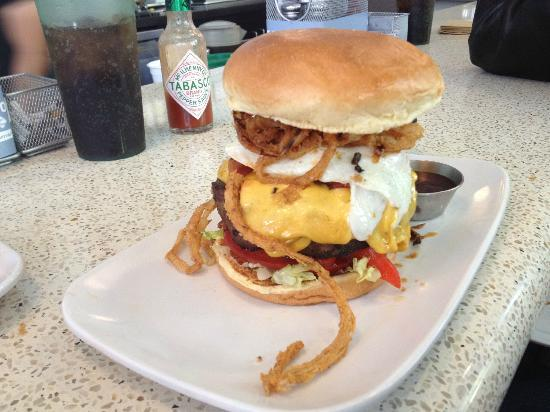 The Counter Santana Row: A 2/3 pound burger with sautéed onions & egg (a smaller version is available!)