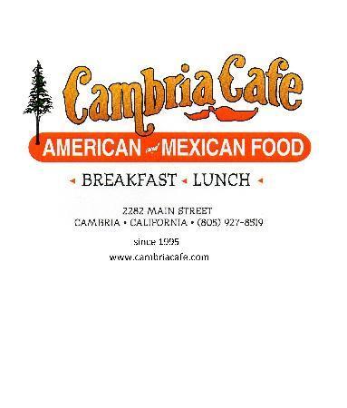 Cambria Cafe: www.cambriacafe.com