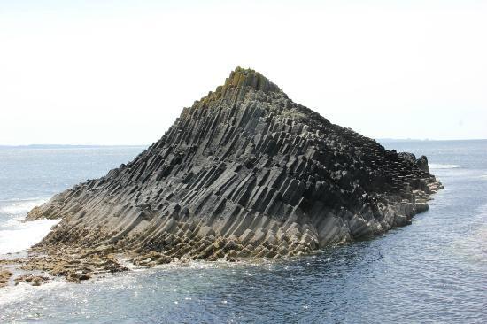 Isle of Mull, UK: basalt columns on a small island off Staffa