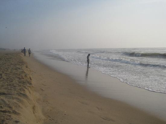 Besant Nagar Beach in the early morning