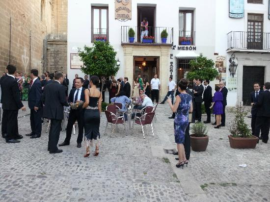 Meson El Sacristan : terraza