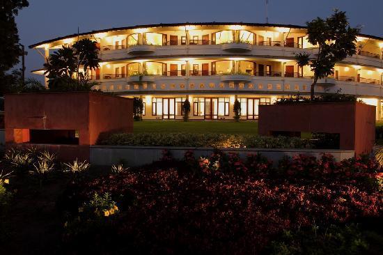 Gulmohar Greens - Golf & Country Club Ltd. : Residential Building Illuminated