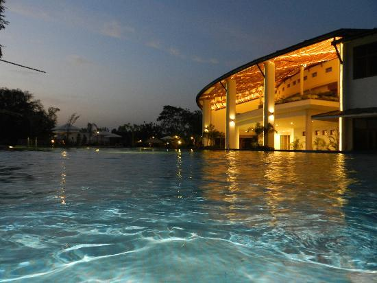 Gulmohar Greens - Golf & Country Club Ltd. : Sports Complex view from Swimming Pool