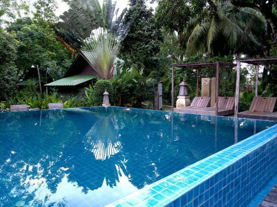 K.B. Resort: สระน้ำหน้าห้องพัก