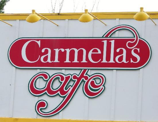 Carmella's Cafe: front sign restaurant