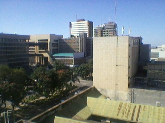 Protea Hotel Lusaka Cairo Road: Lusaka Business District from my Room on 5 th Floor of Protea Cairo Road