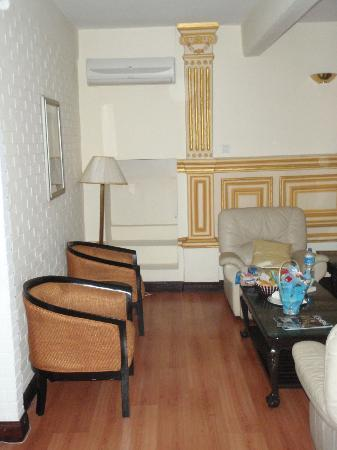 Hotel Shanker: Living area with sitting chairs