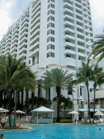 Back of hotel & pool