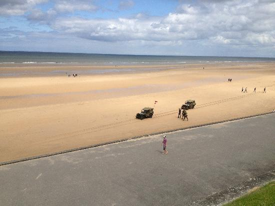 Normandy, Frankrike: Omaha beach, low tide