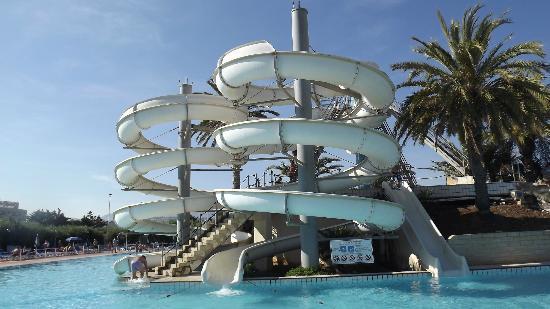 Torre Macauda : scivoli d'acqua