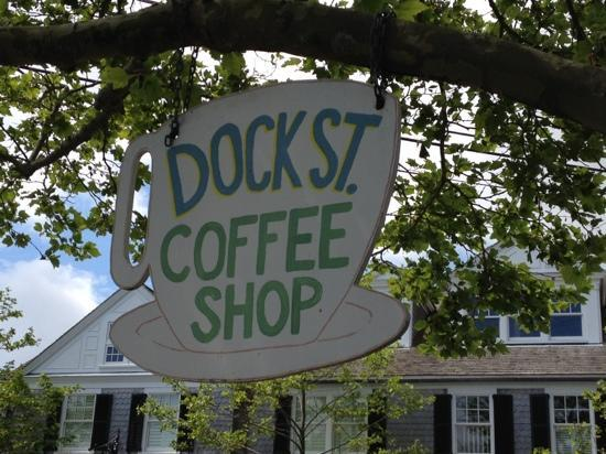 Dock Street Coffee Shop: It is tucked away.  so be sure to have your eyes open or you'll miss it.