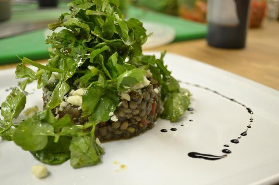 Mint: Puy lentils and spring leaves