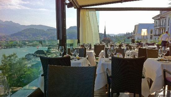 Restaurant terrasse picture of scala restaurant art deco hotel montana lucerne tripadvisor - Deco terrasse ...