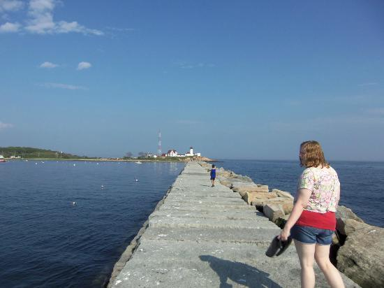 Eastern Point Lighthouse: View from the breakwater
