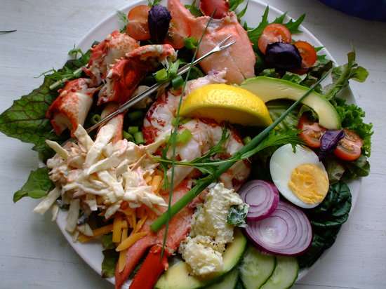 The Curlew Cafe and Crafts : House speciality; Lobster salad