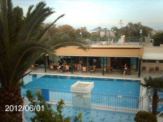 Kavos Plaza: view from our balcony