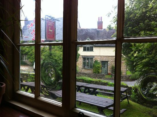 The Antelope Inn: from the window at the warm and wonderful Antelope