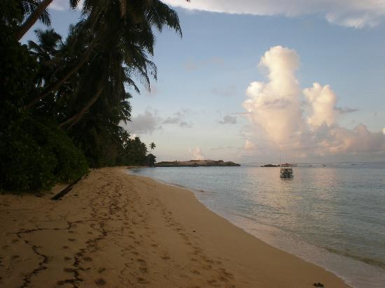 Chalets d'Anse Forbans: early evening on the beach