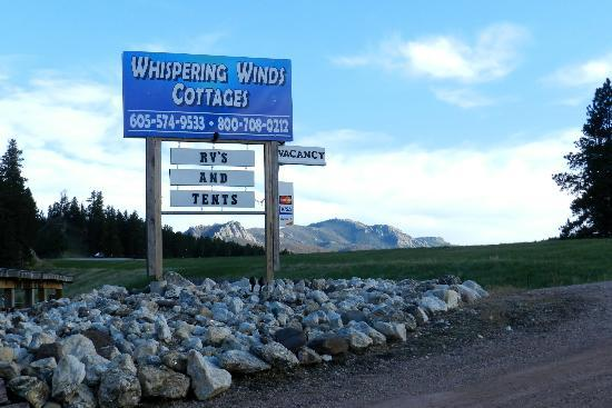 Whispering Winds Cottages: Out of our front door