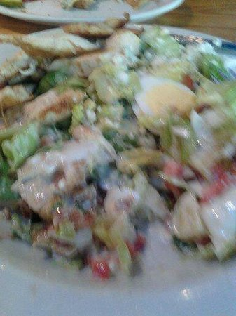 Jack Flats : Cobb Salad with Blu Cheese dressing