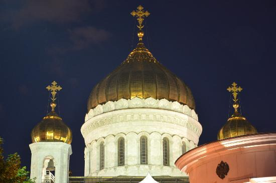 IL Patio: View of the Cathedral of Christ the Saviour on the summer terrace.