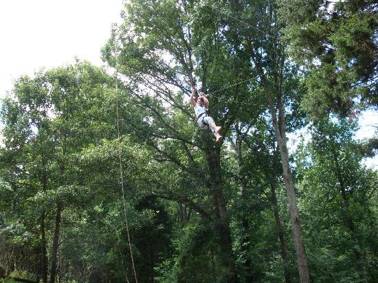 Mammoth Cave Adventures: Long was up on the swing