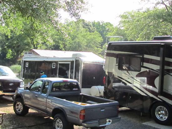 Charlotte / Fort Mill KOA: overcrowded campsite at KOA in Fort Mill