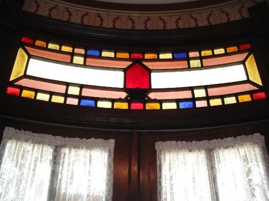 The Empress of Little Rock: More unusual stained glass.