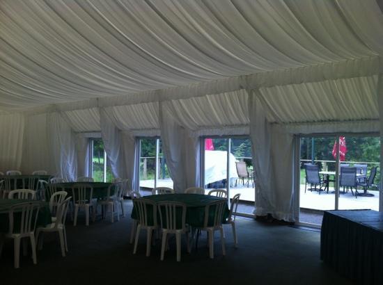 The Pheasant's Nest Restaurant: The wedding and banquet pavilion.