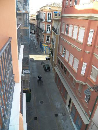 Hotel Trebol: View from the patio. The hotel is in alley.
