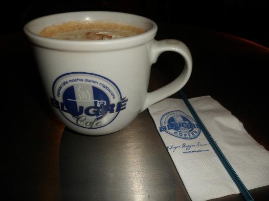 Blugre Coffee: durian cappuccino