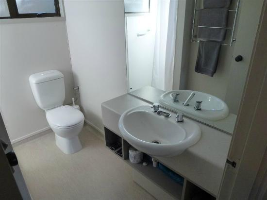Akaroa Waterfront Motels: baño