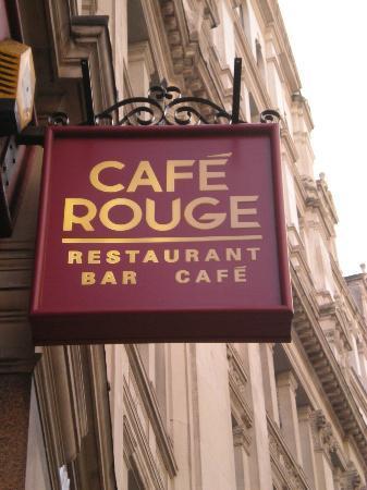 Cafe Rouge: Enseigne de Café Rouge