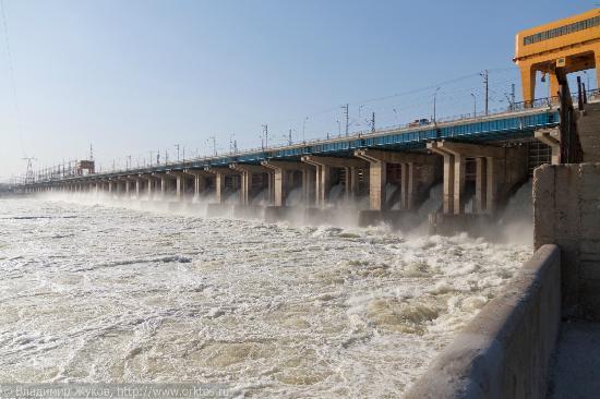 Volzhsky, Russie : Волжская ГЭС им. XXII партсъезда