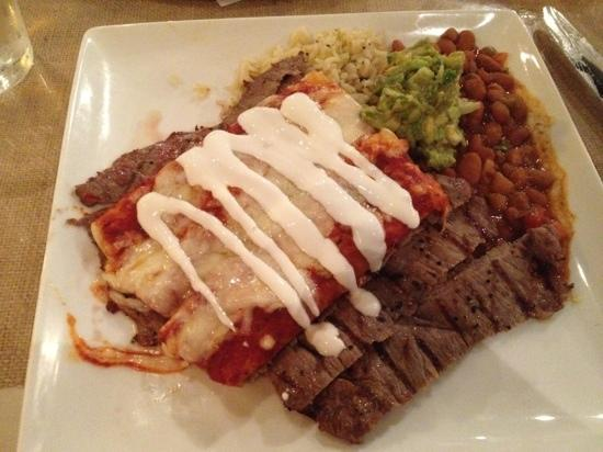 Clear Fork Station: Flank Steak with Enchiladas