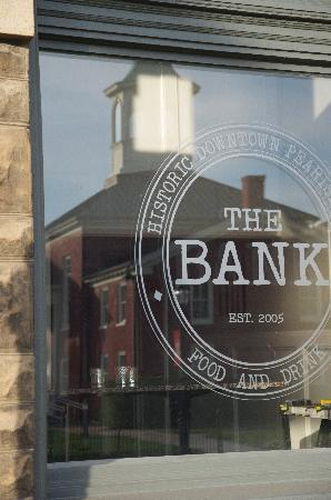 The Bank Food and Drink: Reflection of The Giles Courthouse in the front window