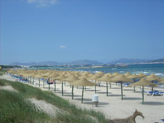 Hotel Galaxia: Along the coast towards Alcudia.