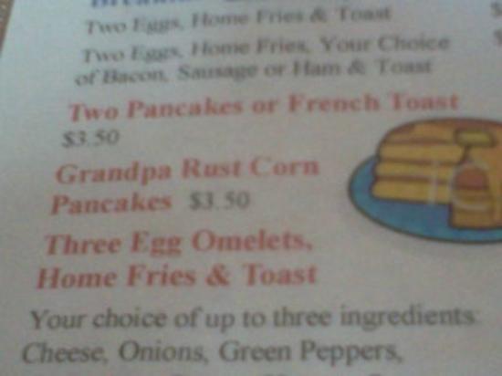 Ola Inn Cafe: Best Corn Pancakes I have ever had !!!!