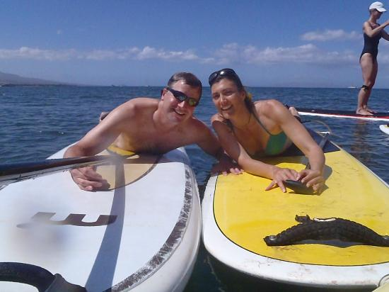 Paia, Hawái: We love SUP with Maria!
