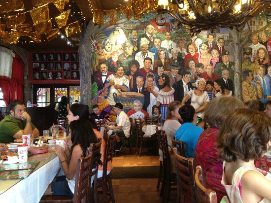 Mi Tierra Cafe Bakery Dining Room Mural Of Famous Latinos