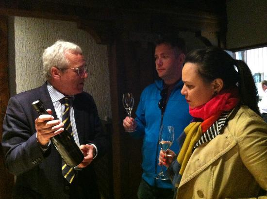 Experience Paris - Champagne Region Tours: Gonzague giving a champagne lesson