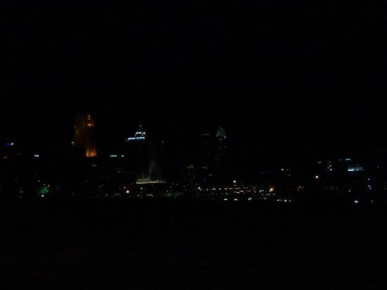 Radisson Hotel Cincinnati Riverfront: the view