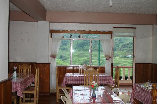 Banaue Homestay: the dining area