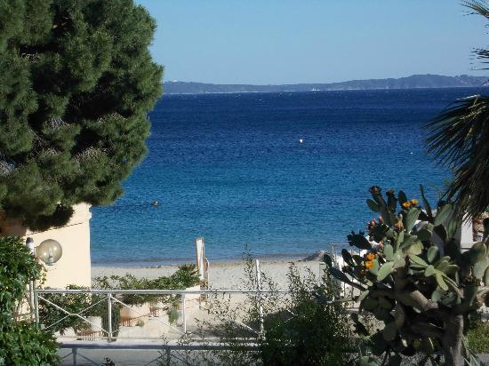 Hotel Le Grand Pavois : vue de la terrasse