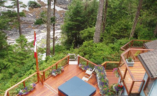 A Snug Harbour Inn: The main guest deck