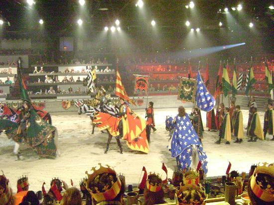 Medieval Times Dinner and Tournament is a great way to have dinner out but with a spectacular show to be enjoyed while you eat. Located at Fantasy Way, Myrtle Beach, South Carolina , visitors can call for more information and tickets.