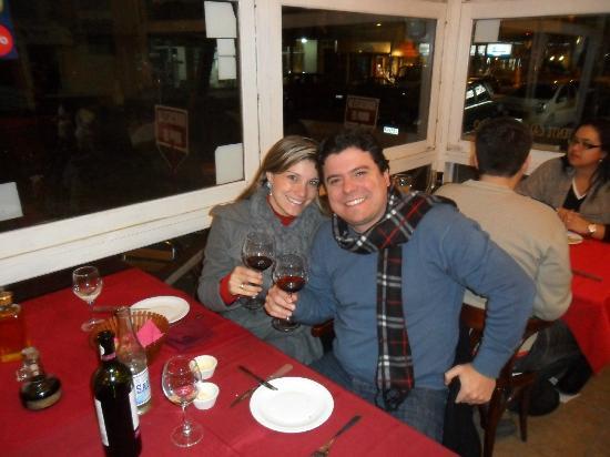 Eu e minha esposa. Jantar em EL Tonel